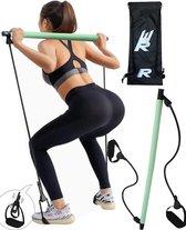 Rebenga Resistance Bar 2.0 + Trainingsschema - Multifunctioneel - Full Body Workout - Resistance band set - Weerstandsbanden - Fitness elastiek Booty Band - Pilates - Pilates Bar - Booty Bar - Pilates Stick - Thuis Sporten + GYM ZAK
