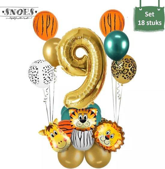 Dieren Ballon Pakket * 9 Jaar * Jungle Ballon * Dieren Feest * Jungle Feest * Verjaardag Feest * Hoera 9 Jaar * Gefeliciteerd * Kinderfeestje * Jungle Party * Snoes