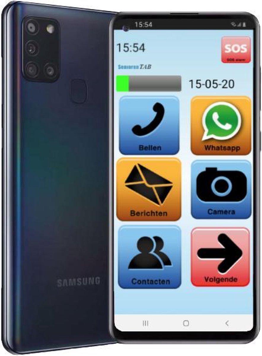 SeniorenTab Senioren Smartphone 32GB Onze nieuwste Vlaamse Smartphone (de officiële SeniorenTab op basis van een Samsung Smartphone)