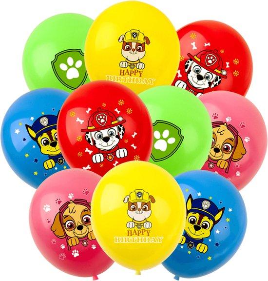 PAW Patrol Ballonnen - 10 Stuks - Paw Patrol Knuffel - Chase - Sky - Rubble - Marshall - Ballonnen Verjaardag -