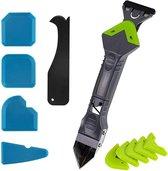 Complete 5-in-1 Kit Set – Kit Schraper Spatel Verwijderaar Strijker – 5 afstrijkrubbers – Siliconen Verwijderaar – Voegenkit – Kit Tool