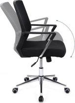 Bureaustoel volwassenen -Er gonomisch - Ergonomische Bureaustoel Phoenix - Verstelbaar - Wervelondersteuning - Garantie -  Zwart - 55x57x101.5