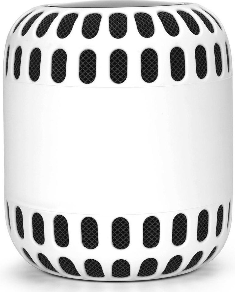 Luxe Siliconen Soft Case Cover Hoesje Voor Apple Homepod Smart Speaker - Bumper Sleeve Beschermhoes - Optimale Bescherming Tegen Krassen & Stoten - Wit