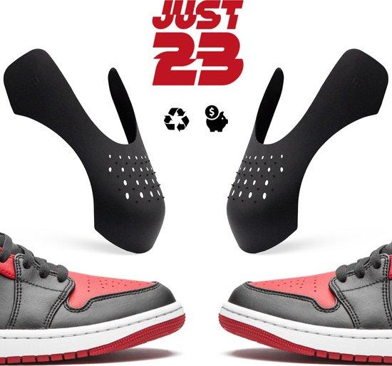 JUST23® Sneaker Crease Protector – Anti Crease – Zwart  –  Maat 35-40 (S)  –  Sneaker Shield – Anti Kreuk – Alle Schoenen zoals Jordan 1 & Air Force 1
