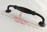 Handgreep / Keukengreep Zwart 128 mm - Modern zwart - Handgrepen voor deurtjes - Deurgreep - Meubelgreep - Handgreep Zwart- Keukengreep - Greep Zwart - Meubelbeslag - handgrepen kast - meubelgrepen - Handgrepen voor deurtjes - inclusief schroeven