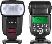Andoer® Flitser - Universele voetstuk - Wireless trigger - Speedlite - High Speed flits - Oplaadtijd 1,5 seconden