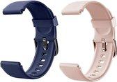 Smartwatch-Trends S205L – Vervanging Horlogeband –  Siliconen bandje - Blauw en Roze