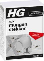 HGX muggenstekker - 45ml - navulbaar - continue bestrijding van muggen - werkt ca 2 maanden