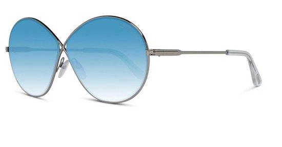 Tom Ford-Rania-zonnebril-Zilver-Blauw gradiënt-64 mm