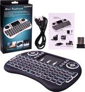 JS2DEAL - Mini Keyboard met Touchpad - Oplaadbaar - Draadloos Toetsenbord -  Perfect voor TV