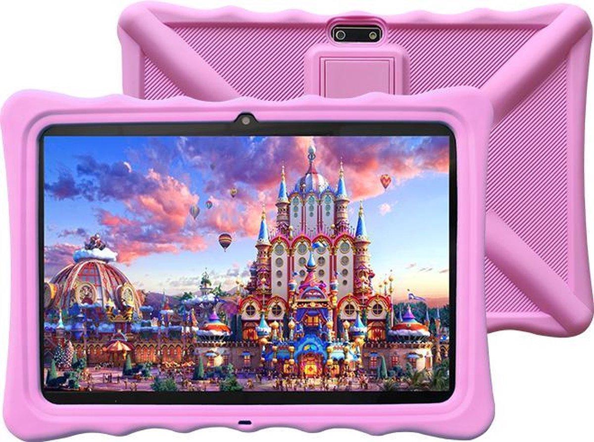 Kindertablet - tablet 10.1 inch - 16 GB - Scherp beeld - leerzame tablet voor kinderen - Wifi - Bluetooth - camera - spellen - Inclusief kinderhorloge - Roze
