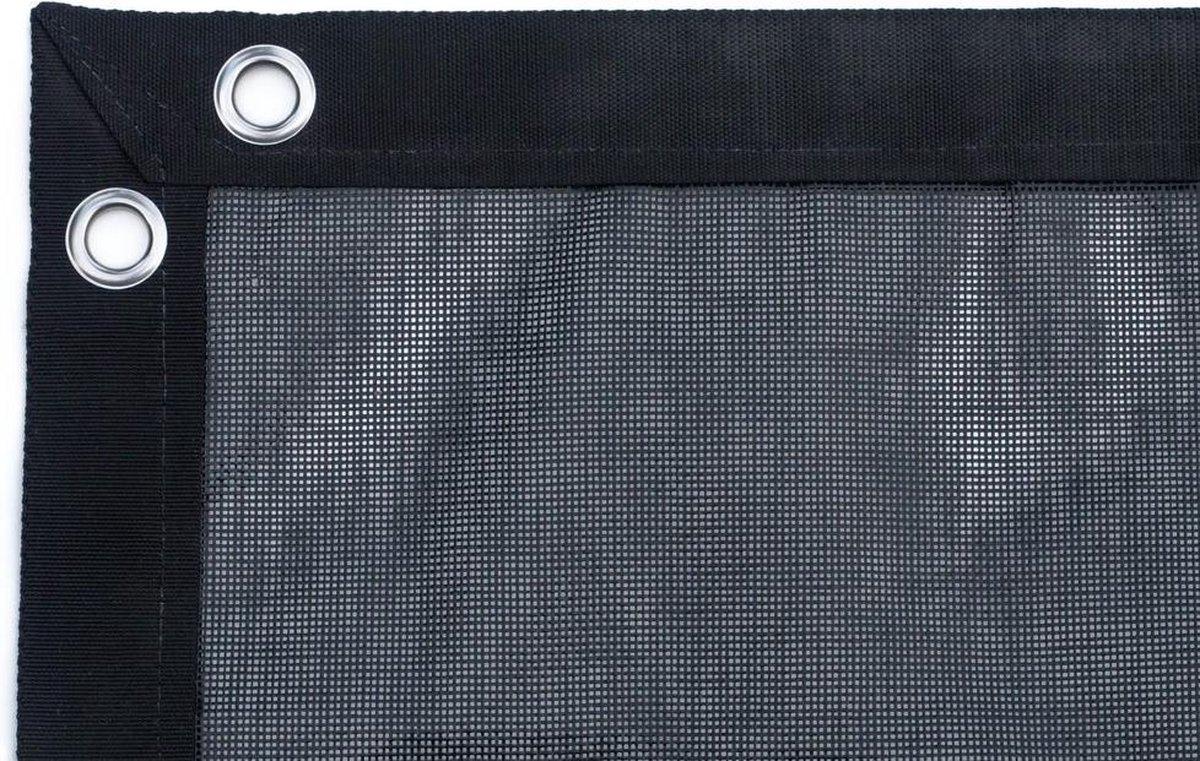 Gaasnet 250 g/m2 - winterafdekking - Afmetingen gaasnet: 4 x 4m - Kleur: Zwart