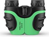 Verrekijker voor kinderen - Verrekijker vogelsspotten - Kinder verrekijker - By Rick - Groen - 8x21 - Hoge kwaliteit - Inclusief accessoires - Binoculars - Vergrootglas