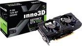 Inno3D GeForce GTX 1050 Ti Twin X2 - Videokaart - 4GB GDDR5 - PCIe 3.0 x16 - HDMI, Displayport, DVI