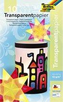 Folia 10 velletjes A4 gekleurd transparant papier - Knutselpapier - Gratis Verzonden