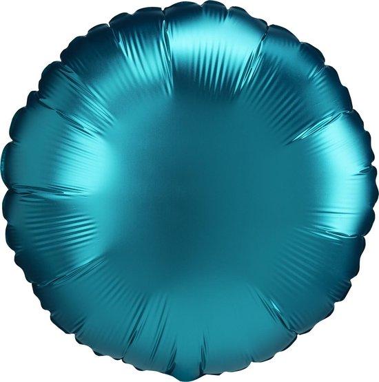 Amscan Folieballon Rond Junior 45 Cm Aqua