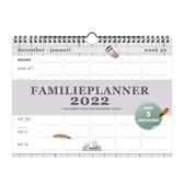 Hobbit - Familieplanner - Veren - 2022 - Voor 5 personen - Spiraalgebonden - Week per pagina - A4 (22x29,7cm) - Groot