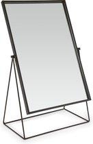VTwonen - Rechthoekige Spiegel - Tafelspiegel - Zwart - 33x53cm