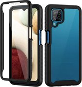 360 Full Cover Defense Case Samsung Galaxy A12 - Zwart