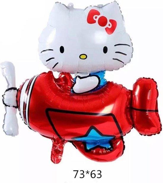 Hello Kitty folie ballon in vliegtuig 73 cm