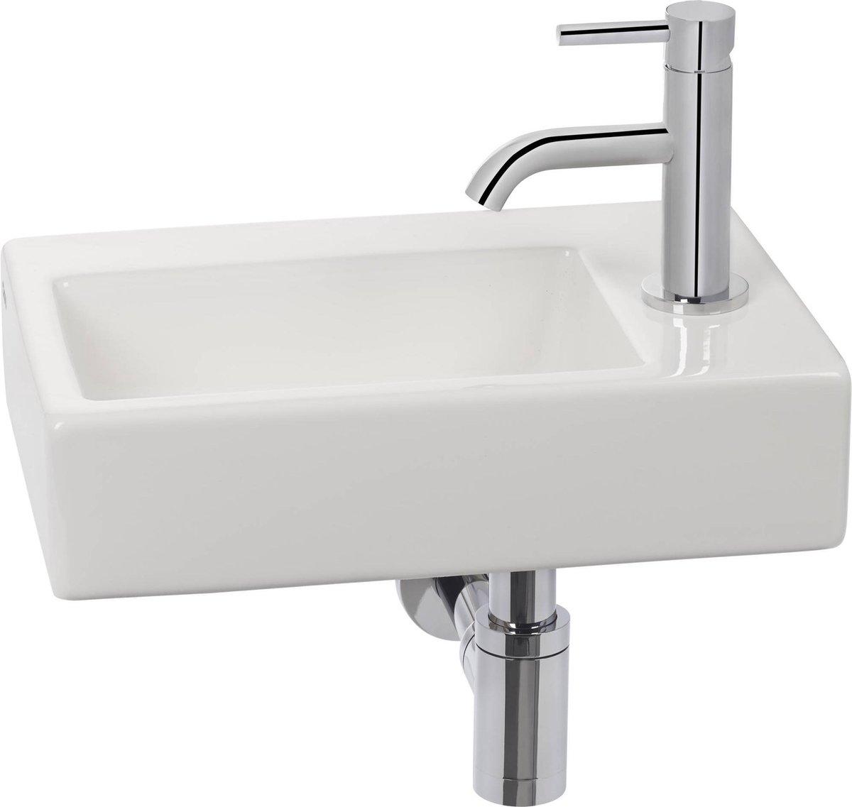 Clou Flush 2 Complete Fonteinset rechts Wit/Chroom