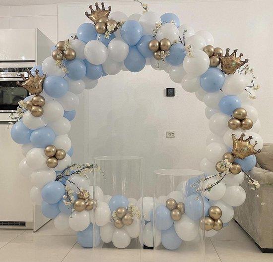 Metalen cirkel backdrop frame - 2 Meter - Ronde Wedding - Gender Reveal - Babyshower - Ballonnen boog kit - Flower decoration -wit