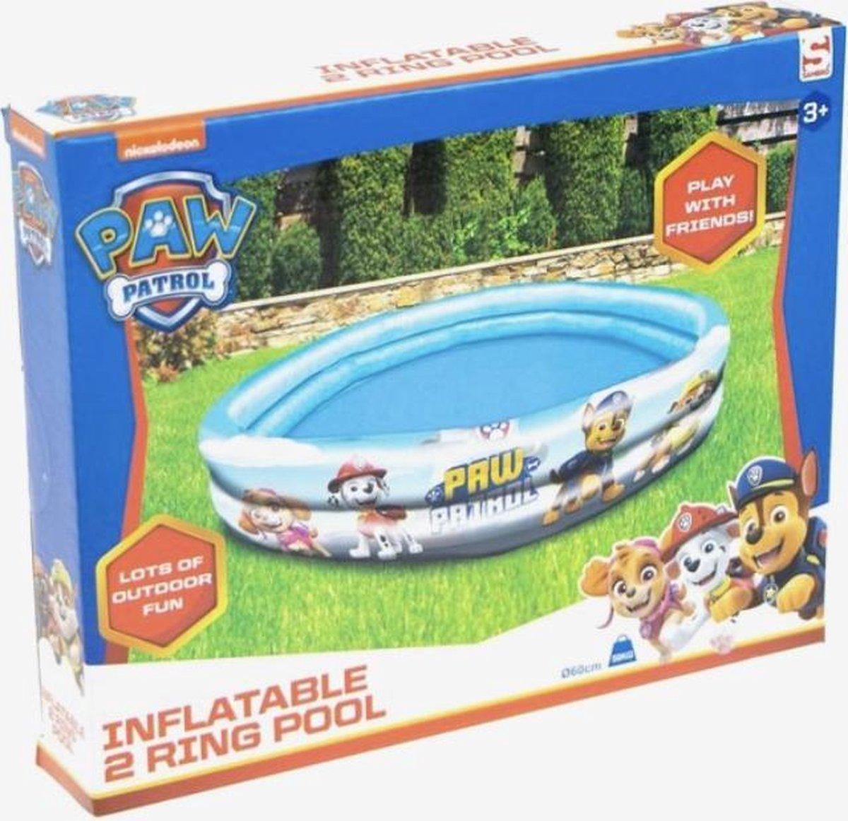 Paw Patrol - Opblaasbaar Zwembad - 2 Rings - Rond - 60 cm