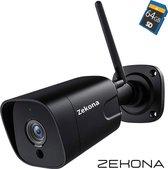 Zekona® 30C - 5MP Beveiligingscamera voor buiten - Camera Beveiliging + 64GB SD Kaart