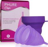 Phure® Herbruikbare Menstruatiecup - Large - 2 stuks - incl. Sterilisator - Paars