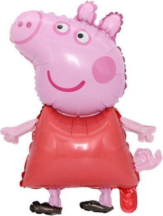 Peppa Pig Ballon - George - 73x49cm - Varken - Roze/Rood - Ballonnen - Helium Ballon - Folie Ballon - Kinderverjaardag - Thema feest - Verrassing - Verjaardag - Folie ballon - Leeg - Versiering - Tekenfilm