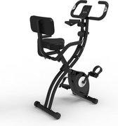 BluMill X-Bike - Hometrainer met rugleuning - Fitness Fiets - Opvouwbaar - Incl. extra Weerstandsbanden