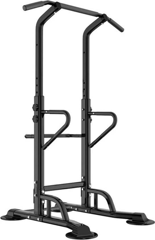 Krachtstations - Zinaps BH-PSBB002-N Power Tower met DIP-station Multifunctionele krachtcentrale met pull-up bar en push-up handgrepen Hoogte Verstelbaar vanaf 190 - 230 cm (WK 02132)