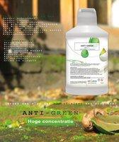 VOOR AL U GROEN AANSLAG TE VERWIJDEREN 100 % concentraat HG MOS ALGEN ZELF WERKEND ZONDER SCHROBBEN Groene aanslagreiniger 1 L Anti green Algen- Mos bestrijding