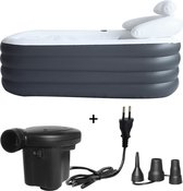 Yaqubi - opblaasbaar bad - INCLUSIEF POMP - model 2021 - ligbad - opblaasbare badkuip - bad - zitbad - badkamer accessoires