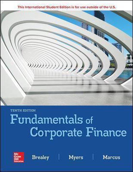 Boek cover ISE Fundamentals of Corporate Finance van Richard Brealey (Paperback)