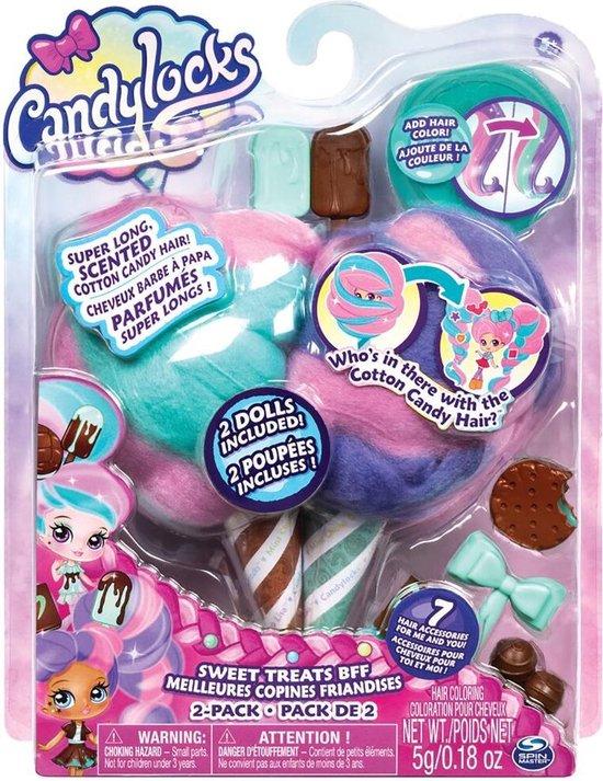 Afbeelding van het spel Spin Master Candylocks Sweat Trearts BFF met 2 Poppen Assorti - Speelgoed - Poppen en Accessoires