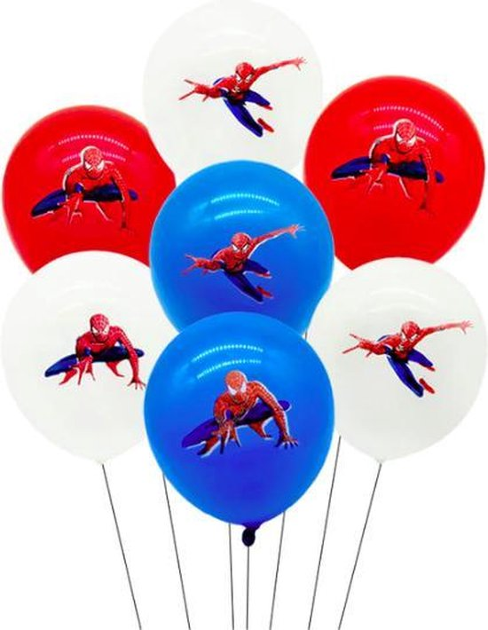 ProductGoods - 10x Spiderman Ballonnen Verjaardag  -Verjaardag Kinderen - Ballonnen - Ballonnen Verjaardag - Spiderman - Kinderfeestje