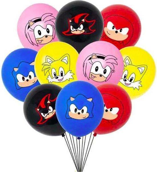 ProductGoods - 10x Sonic Ballonnen Verjaardag -Verjaardag Kinderen - Ballonnen - Ballonnen Verjaardag - Sonic - Kinderfeestje