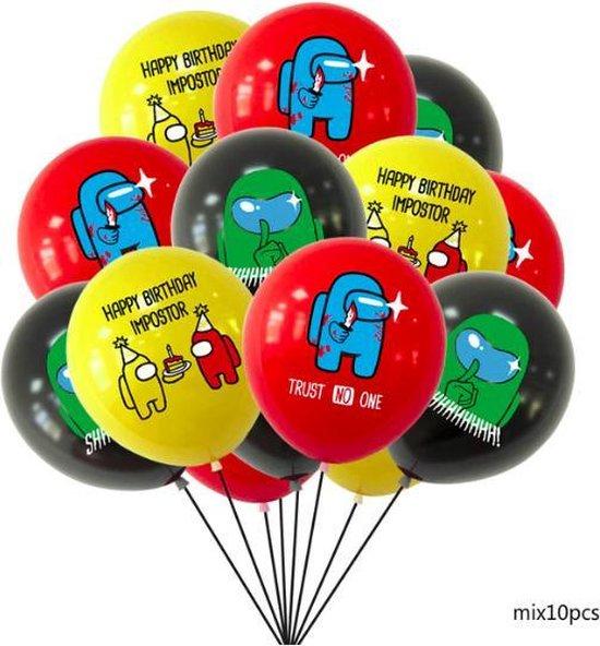 ProductGoods - 10x Among Us Ballonnen Verjaardag - Verjaardag Kinderen - Ballonnen - Ballonnen Verjaardag - AmongUs - Kinderfeestje