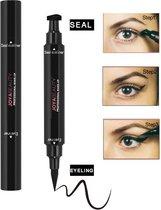 Joya Beauty® Eyeliner met wing stempel | Zwarte oog Stempel | 2 in 1 eyeliner | Eyeliner Tool | Wing Eyeliner | Wing Stamp