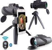 Dieux® - Monokijker - Monoculair Verrekijker - 10x42 - Spotting Scope - Vogelkijker - Compact – Draagbaar - Smartphone adapter – Waterdicht – Afstandsbediening - Bluetooth - Statief - Fotografie – Filmen