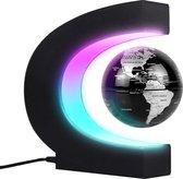 Lifeneeds Magnetisch Zwevende Wereldbol met Verlichting - Educatief Speelgoed - Wereldbol Lamp Decoratie ZWART