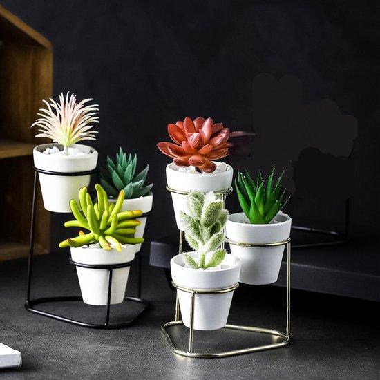 Bol Com Set Van 2 Drievoudige 3 Laags Bloempotten Plantenpotten Op Standaard Voet Voor Binnen