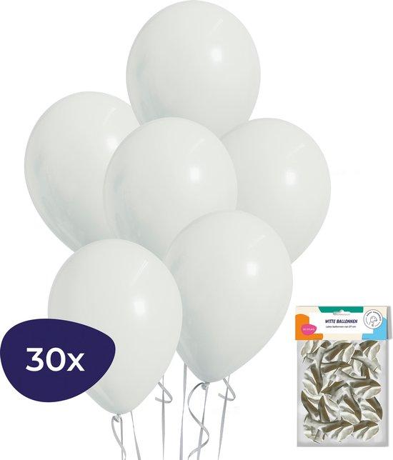 Witte Ballonnen – Helium Ballonnen – Verjaardag Versiering – Bruiloft Decoratie – 30 stuks