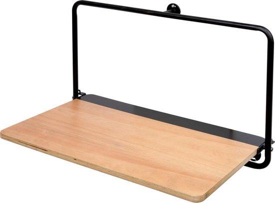 Duraline Opvouw Bureau met Zwart Metalen frame 60x30cm