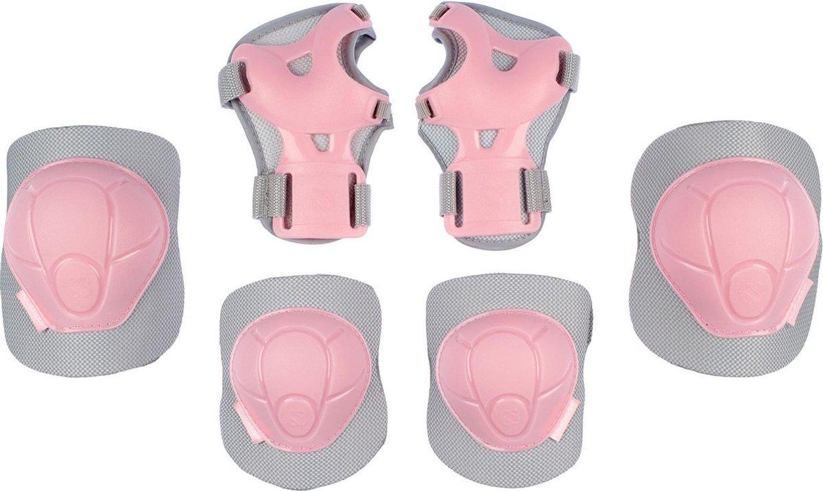 Nijdam Skate Beschermset Kinderen - Concrete Rose - Roze/Grijs - M