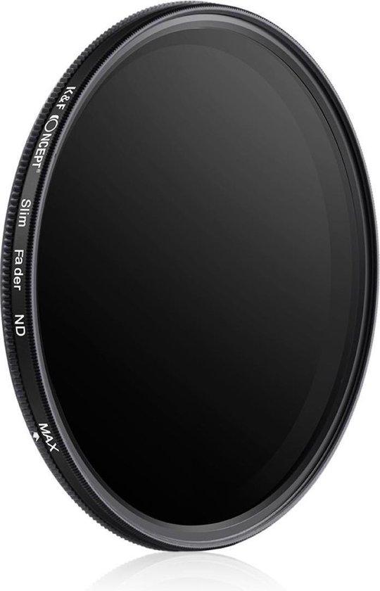 K&F Concept 58mm variabele ND2-ND400 filter MC ND fader grijsfilter