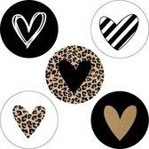 Afbeelding van Sticker Set CUPIDO | 30x | Stickers / Bullet Journal Stickers / Sluitstickers | Hartjes | 35 mm