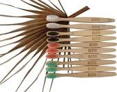 Bamboe tandenborstel   Zacht   10 stuks   Biologisch afbreekbaar   Maison Boho