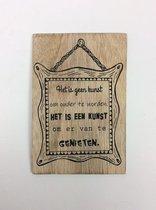 Postkaart Het is geen kunst